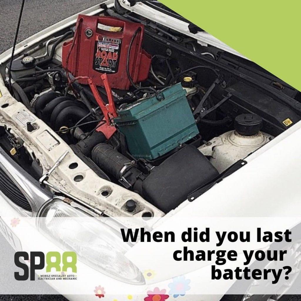 Jump start car battery service